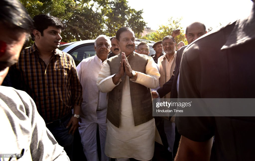 IND: Union Minister And BJP Candidate From Gautam Buddh Nagar Lok Sabha Seat Mahesh Sharma Files Nomination Papers