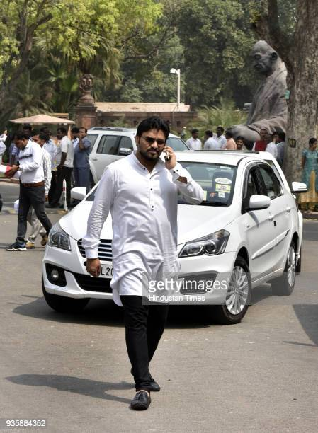 Union Minister Babul Supriyo during the Bugdet Session of Parliament on March 21 2018 in New Delhi India