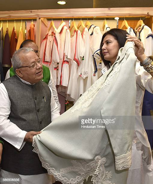 Union Minister for Micro Small and Medium Enterprises Kalraj Mishra inaugurates fashion designer Ritu Beri's Khadi collection at Regal Building Khadi...