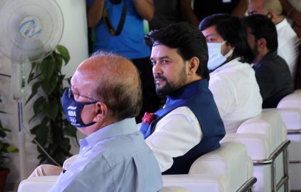 IND: Union Sports Minister Anurag Thakur  Cheers Athletes Ahead Of Opening Ceremony Of Tokyo Olympics