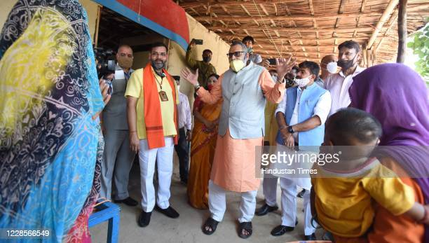 Union Minister Giriraj Singh interacts with Hindu refugees from Pakistan on the occasion of Prime Minister Narendra Modis 70th birth anniversary...