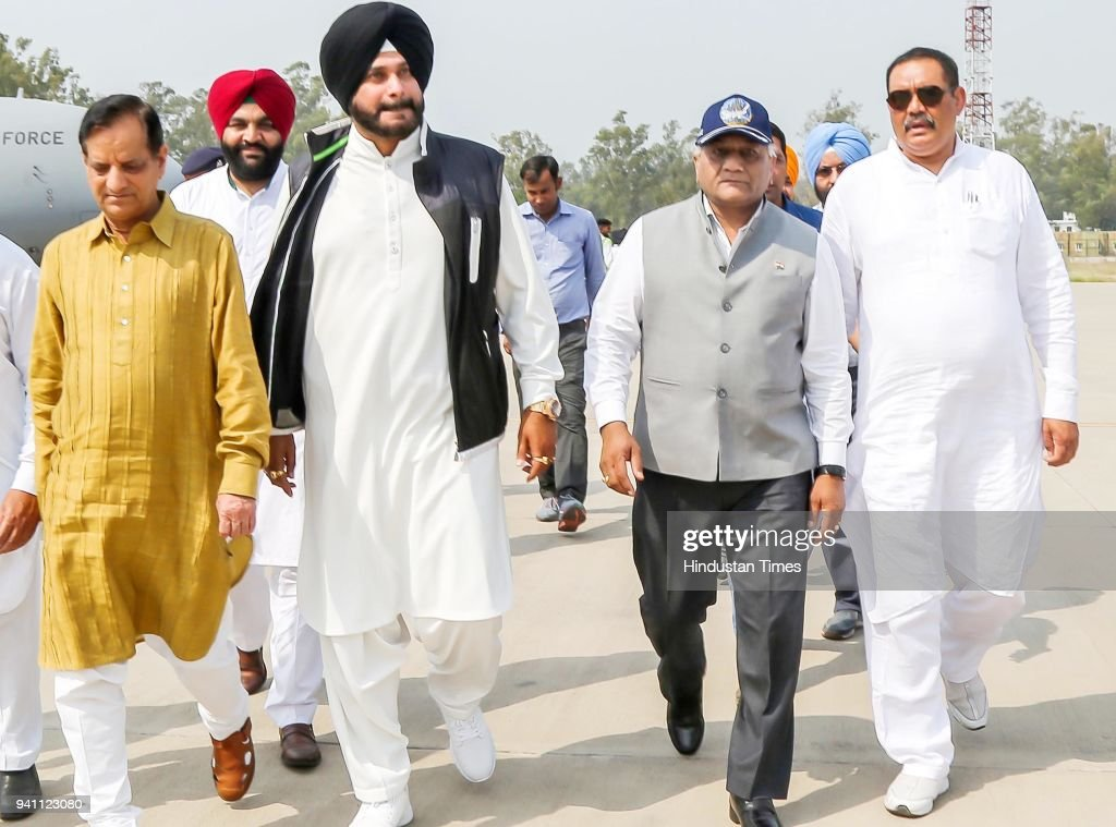 Union Minister Of State For External Affairs General VK Singh with Union minister of State For Social Justice And Empowerment Vijay Sampla Punjab...