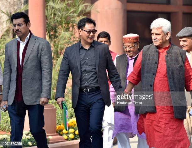 Union Minister of State for Home Affairs Kiren Rijiju Union Minister of Communications Manoj Sinha and Union Sports Minister Rajyavardhan Singh...