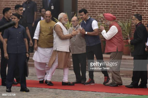 Union Minister of State Housing and Urban Affair Hardeep Singh Puri Union Home Minister Rajnath Singh Union sports minister Rajyavardhan Singh...