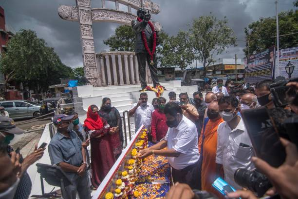 IND: Union Minister Ramdas Athawale Pays Tribute On The 23rd Memorial Day To The Martyred Bhim Sainiks