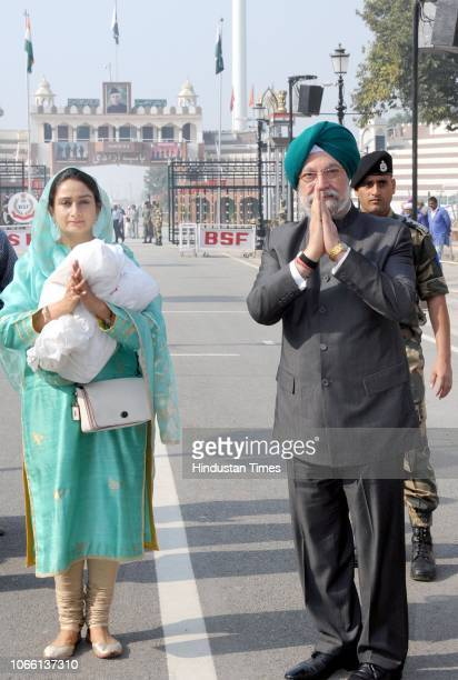 Union MoS in the Ministry of Housing and Urban Affairs Hardeep Singh Puri and Union Minister for Food Processing Industries Harsimrat Kaur Badal...