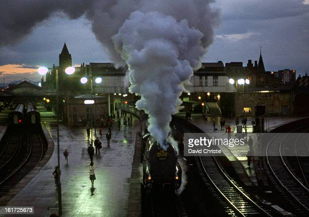 Union of South Africa on the Speyside Express departing Perth Station somewhat late on the evening of 30/9/78.