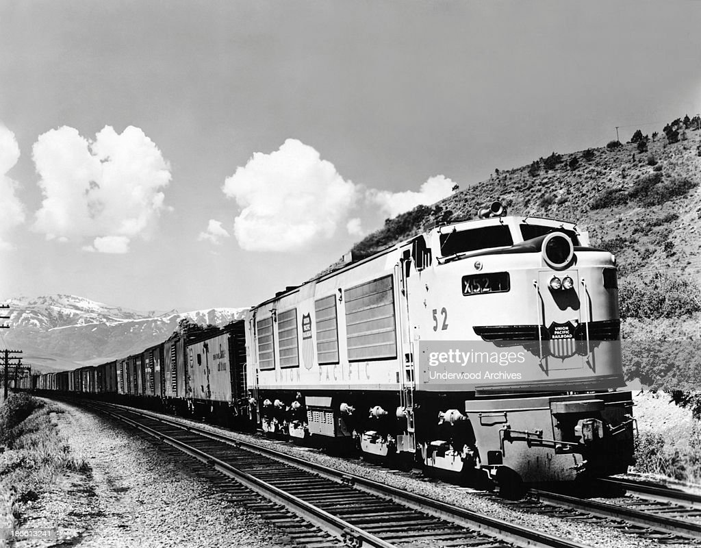 Freight train in the mountains pictures getty images a union pacific railroad freight train in the mountains late 1940s or early 1950s biocorpaavc