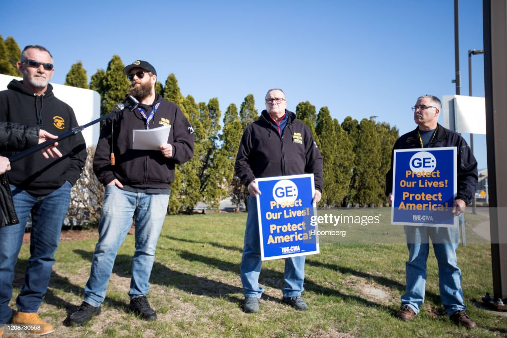 General Electric Workers Launch Protest, Demand To Make Ventilators : News Photo