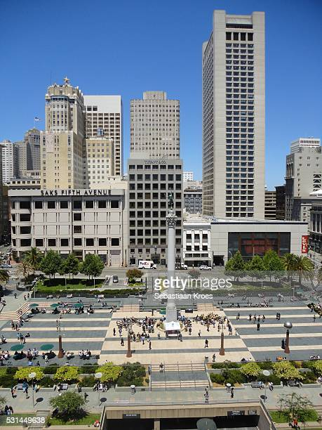 Union Square and Dewey Monument, San Francisco, California, United States of America