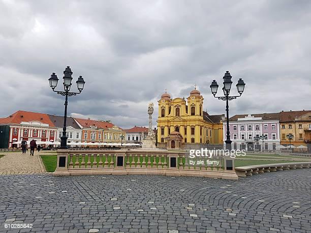 Union square in Timisoara, Romania