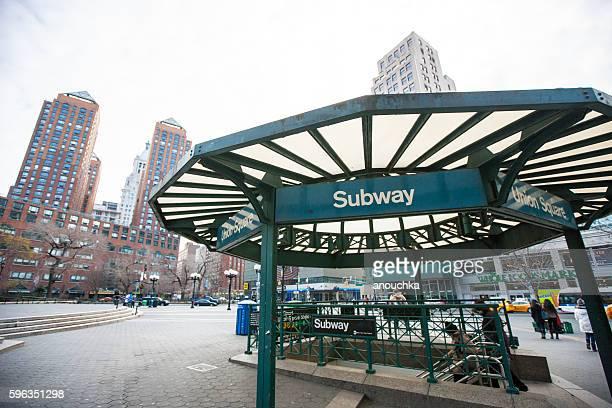 Union Square in Winter, New York, USA