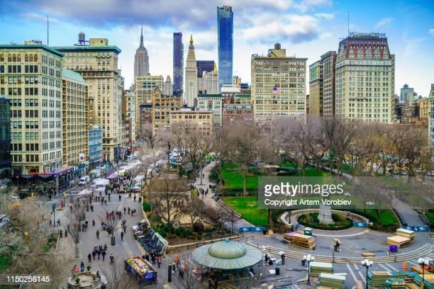 union square, new york - ユニオンスクエア ストックフォトと画像