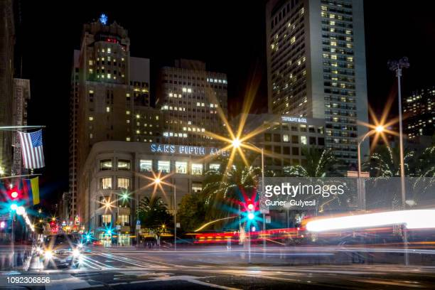 union square, san francisco, california - san francisco financial district stock pictures, royalty-free photos & images