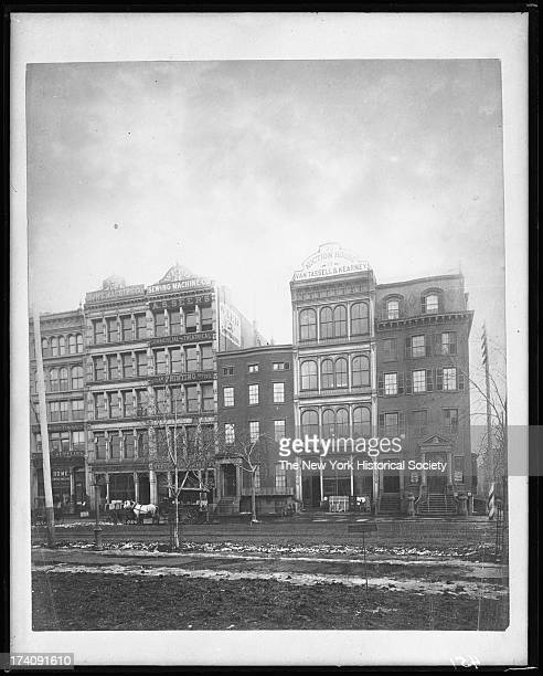 Union Square West,New York, New York, late 1870s.