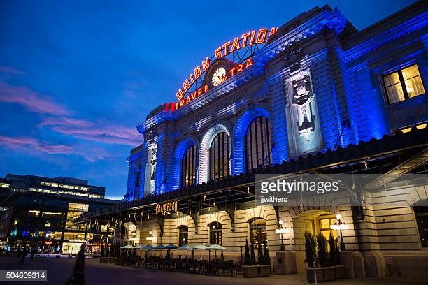 Union Station and Crawford Hotel during Winter Downtown Denver Colorado