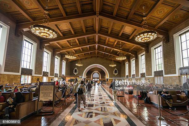 union station, los angeles, california - union station los angeles stock photos and pictures