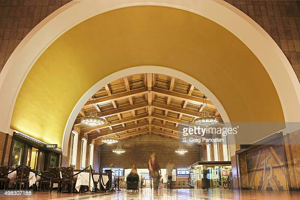 union station - los angeles - union station los angeles stock photos and pictures