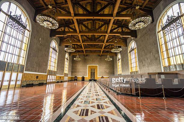 union station, los angeles - union station los angeles stock photos and pictures