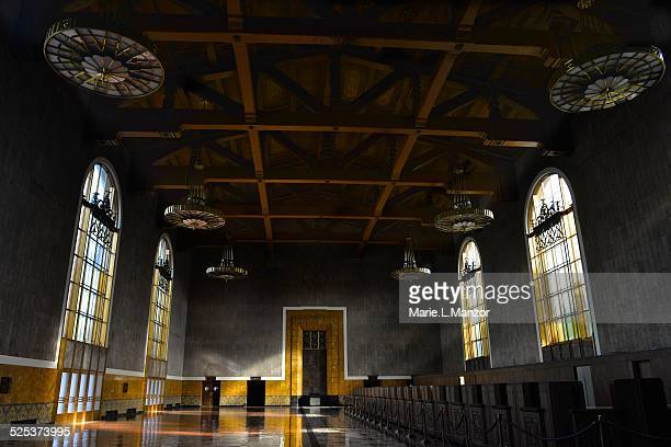 union station - union station los angeles stock photos and pictures