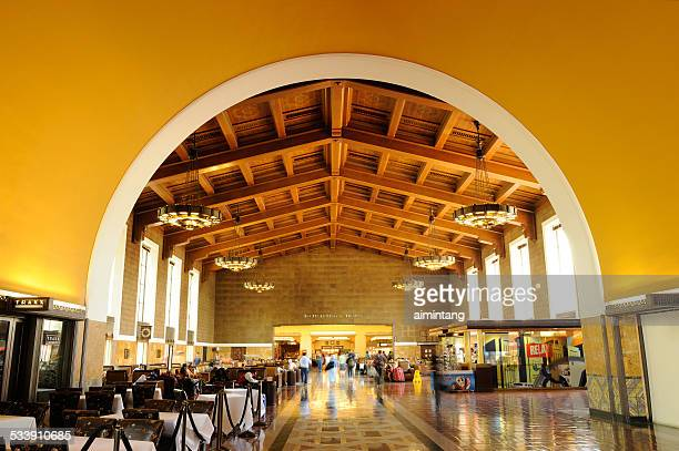 l.a. union station - union station los angeles stock photos and pictures