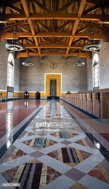 union station. - union station los angeles stock photos and pictures