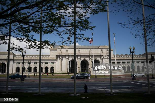 Union Station stands in Washington, D.C., U.S., on Monday, April 13, 2020. Congress faces intense pressure to negotiate an interim rescue package...