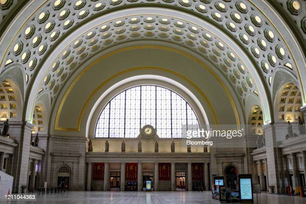 """Union Station stands nearly empty in Washington, D.C., U.S., on Saturday, April 25, 2020. Maryland Governor Larry Hogan said he will be """"very..."""