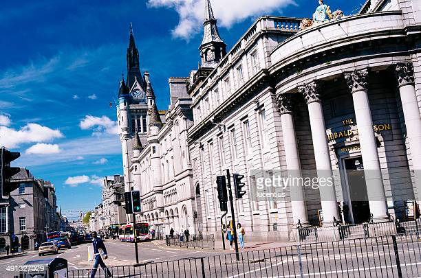 union street, aberdeen - aberdeen scotland stock pictures, royalty-free photos & images