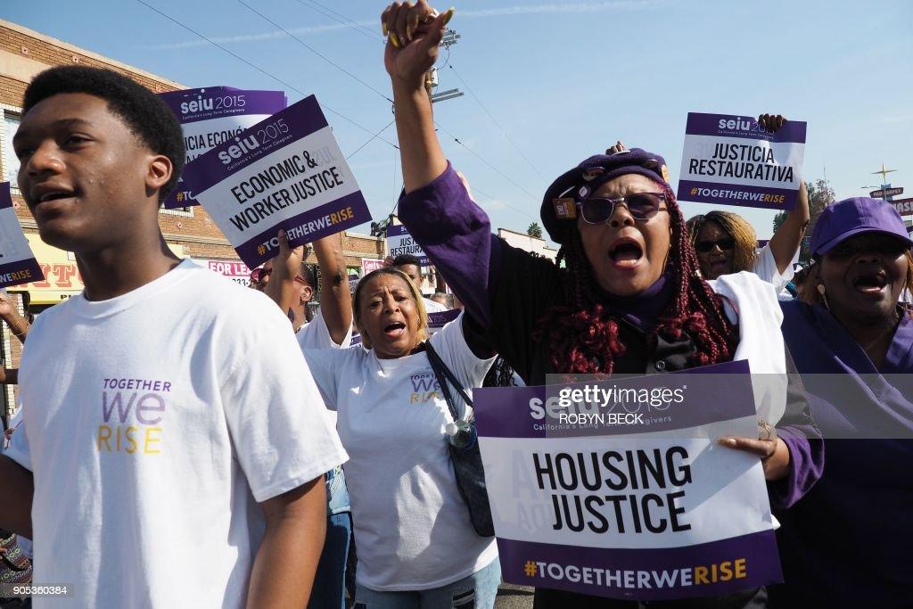 US-POLITICS-RACE-MLK : News Photo