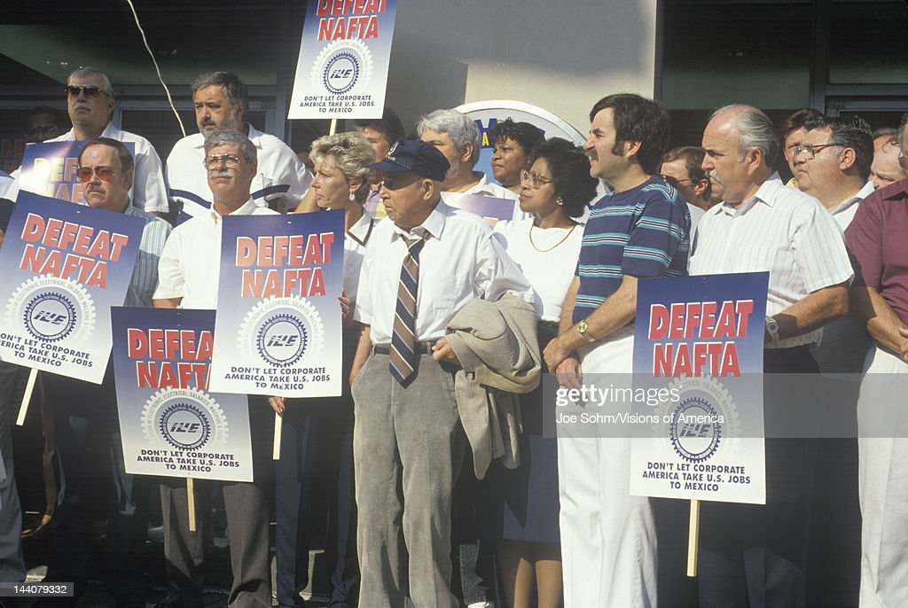 Union workers protesting NAFTA, Washington D.C.