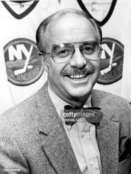 New York Islanders general manager Bill Torrey sports a mustache in this photo taken at Nassau Coliseum in Uniondale New York on February 5 1985