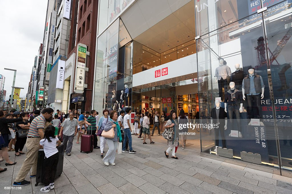 uniqlo flagship store in ginza tokyo japan stock photo