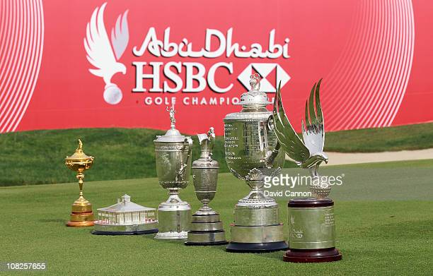 Unique collection of golf trophies The Ryder Cup won by Europe in 2010, The Masters player replica trophy won by Phil Mickelson of the USA in 2010,...