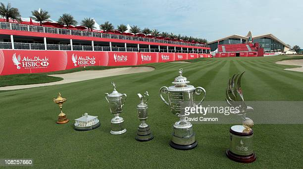 A unique collection of golf trophies The Ryder Cup won by Europe in 2010 The Masters player replica trophy won by Phil Mickelson of the USA in 2010...