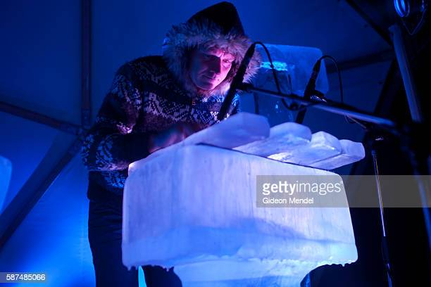 A unique ice music performance by Norwegian musician Terje Isungset takes place inside an igloo shaped tent at Somerset House All the music made by...