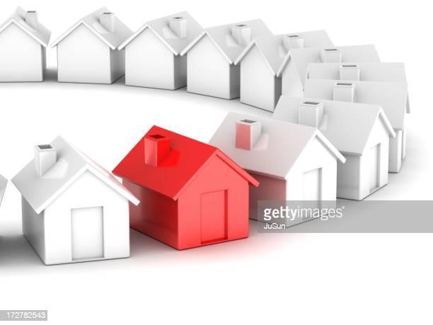 unique maison rouge