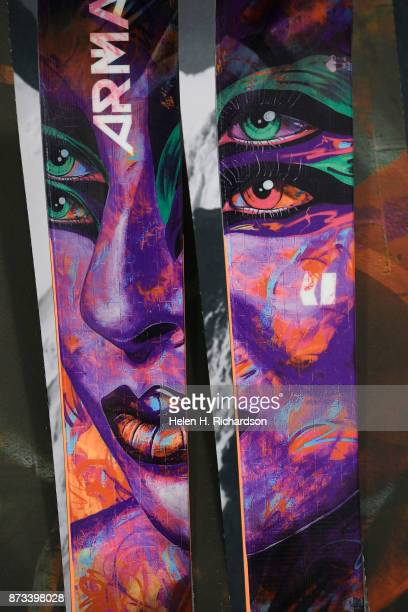 DENVER CO NOVEMBER 12 Unique skis by Armada are on display during the 26th annual Colorado Ski and Snowboard Expo at the Convention Center on...