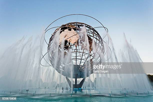 unisphere at flushing meadows-corona park - flushing queens stock pictures, royalty-free photos & images