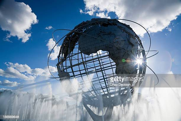 unisphere, flushing meadows - corona park - flushing queens stock pictures, royalty-free photos & images