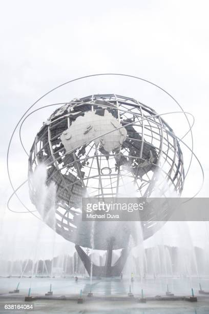 Unisphere, globe of the world, earth, in Queens New York, site of the Worlds Fair
