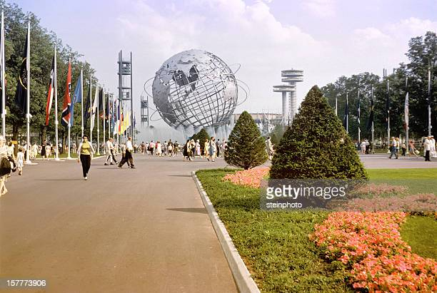 unisphere nova york 1964 world's fair de - queens new york city - fotografias e filmes do acervo