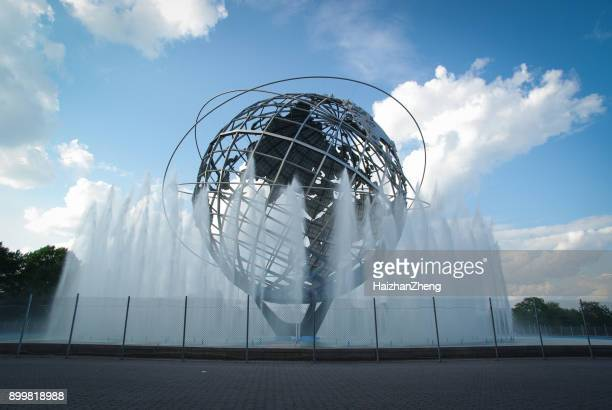 unisphere - monument station london stock photos and pictures
