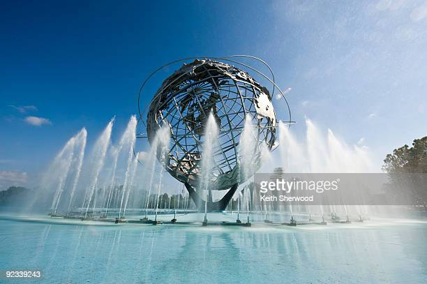 unisphere - local landmark stock pictures, royalty-free photos & images