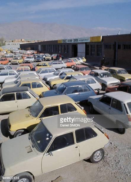 Unité de production de modèles Renault 5 en décembre 1976 à Téhéran, Iran.