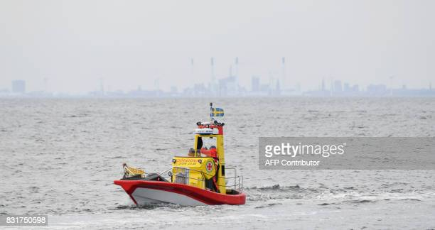 A unit of the Swedish Sea Rescue Society searches for the missing swedish journalist Kim Wall at the Lundakra Bay between Barsebaeck and Landskrona...