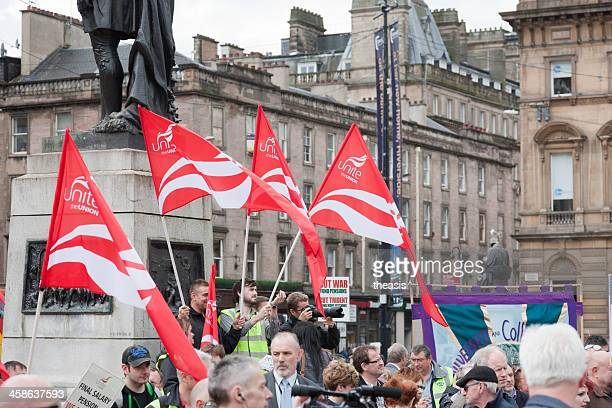 unite demonstrators - theasis stock pictures, royalty-free photos & images