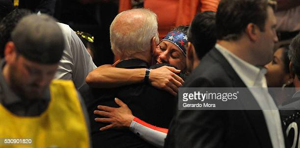 Unite States President Joe Biden attends the Unite States and Denmark wheelchair Rugby Finals at the Invictus Games Orlando 2016 at the ESPN Wide...