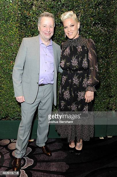 unite4good Founder Anthony Melikhov and singersongwriter Pink attend the 2nd Annual unite4humanity presented by ALCATEL ONETOUCH at the Beverly...