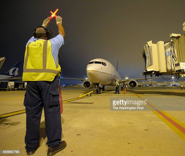 United Airline Charter flight captaining the Washington Nationals Baseball Team arrives at Atlanta HartsfieldJackson International Airport The team...